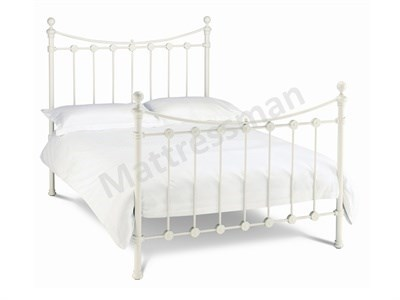 Bentley Designs Alice 4 6 Double Ivory Slatted Bedstead Metal Bed
