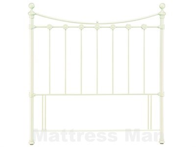 Bentley Designs Alice 3 Single White Metal Headboard
