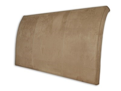 New Design Alpha - Coffee 5 King Size Coffee Faux Suede Headboard Only Fabric Headboard