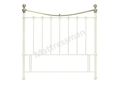 Bentley Designs Amelie 4 Small Double White Metal Headboard