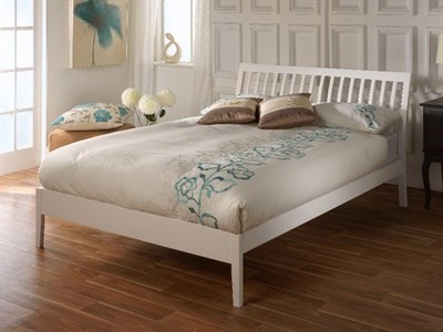Limelight Ananke 4 6 Double White Wooden Bed