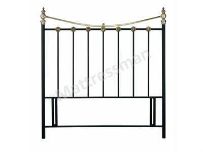 Bentley Designs Ancona 3 Single Black Headboard Only Metal Headboard