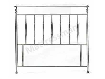 Bentley Designs Arden 3 Single Antique Nickel Headboard Only Metal Headboard