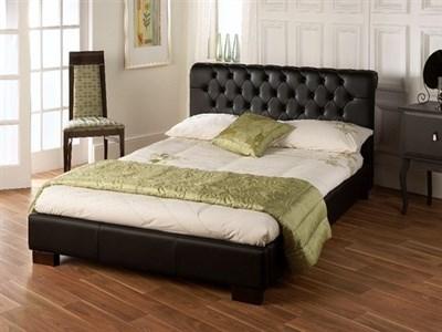 Limelight Aries Black 6 Super King Black Leather Bed