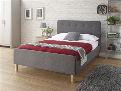 GFW Ashbourne 5' King Size Fabric Bed