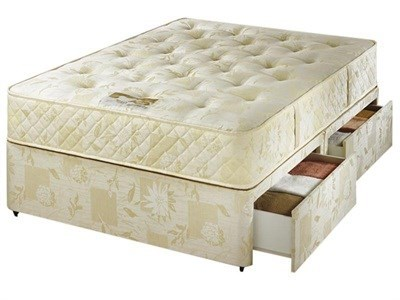 AirSprung Caithness Divan Set 4 6 Double Platform Top - No Drawers Divan