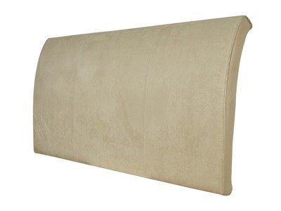 New Design Alpha - Latte 5 King Size Latte Faux Suede Headboard Only Fabric Headboard