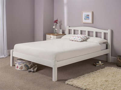 Snuggle Beds Amberley White 5' King Size White Wooden Bed