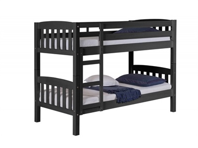 Verona Design Ltd America Bunk Bed Graphite 3 Single Graphite Bunk Bed Bunk Bed