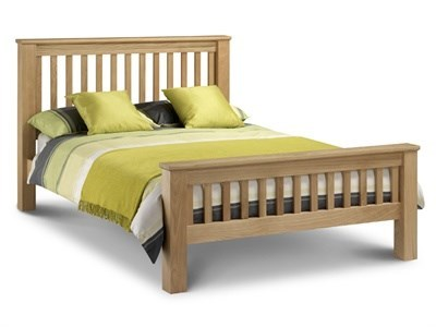 Julian Bowen Amsterdam Oak HFE 6 Super King Oak Wooden Bed