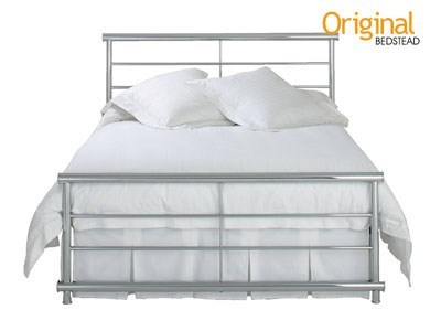 Original Bedstead Co Andreas 3 Single Chrome Slatted Bedstead Metal Bed