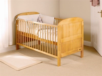 East Coast Nursery Angelina Cot Bed in Antique Pine Cot Bed