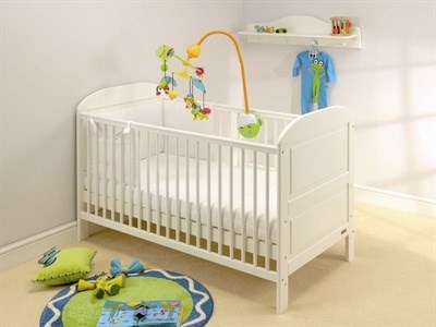 East Coast Nursery Angelina Cot Bed in Pure White Cot Bed