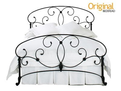 Original Bedstead Co Arigna Headboard 4 6 Double Glossy Ivory Headboard Only Metal Headboard