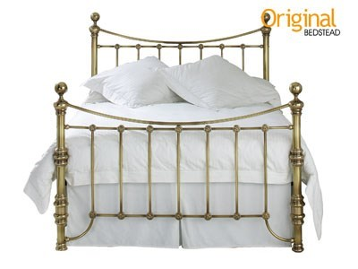 Original Bedstead Co Arran 4 6 Double Genuine Brass Antique Finish Universal LFE - No Footend Metal Bed