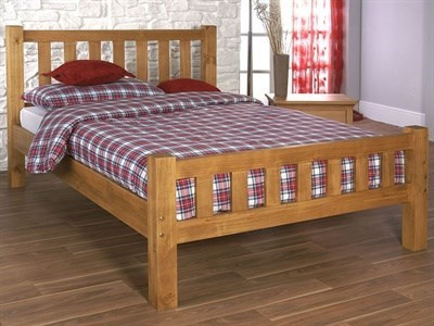 Limelight Astro 4 6 Double Natural Wooden Bed