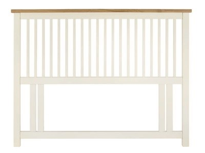 Bentley Designs Atlanta Two Tone Headboard 5 King Size Oak and White Headboard Only Wooden Headboard