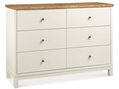 Bentley Designs Atlanta Two Tone 6 Drawer Wide Chest Drawer Chest