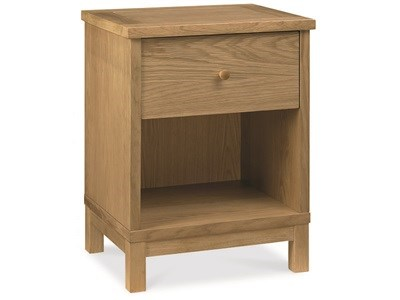Bentley Designs Atlanta Oak 1 Drawer Nightstand Oak Bedside Chest