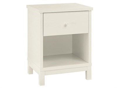 Bentley Designs Atlanta White 1 Drawer Nightstand White Bedside Chest