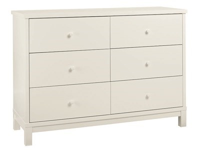 Bentley Designs Atlanta White 6 Drawer Wide Chest Drawer Chest