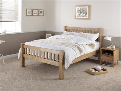 Silentnight Ayton Oak 4 6 Double Oak Wooden Bed