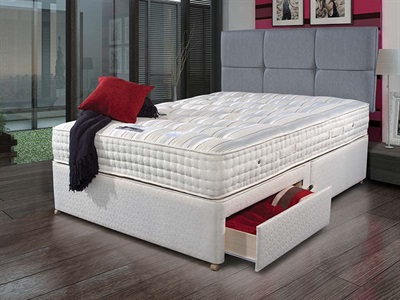 Sleepeezee New Backcare Ultimate 2000 Divan Set 6 Super King Zip And Link Platform Top - No Drawers Divan