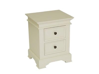 Balmoral Banbury Bedside Cabinet Ivory 2 Drawer Bedside Chest