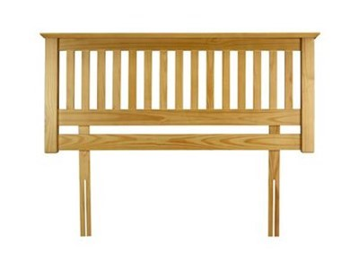 Julian Bowen Barcelona Pine 5' King Size Natural Wooden Headboard