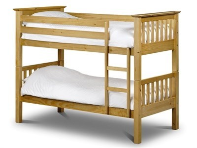 Julian Bowen Barcelona Bunk Bed 3 Single Natural Bunk Bed Bunk Bed