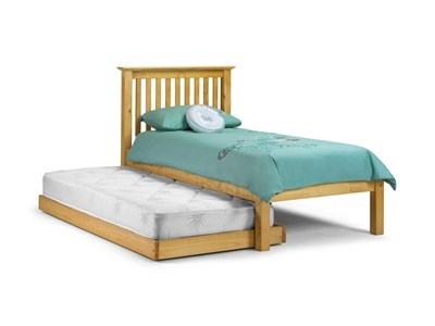 Julian Bowen Barcelona Hideway Pine 3 Single Natural Guest Bed Stowaway Bed