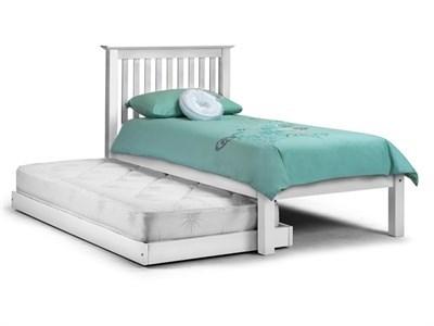 Julian Bowen Barcelona Hideway Stone White 3 Single Stone White Guest Bed Stowaway Bed
