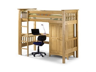Julian Bowen Bedsitter Bunk  3 Single Natural High Sleeper