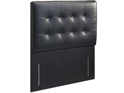 New Design Bianca Leather 2 6 Small Single Black Faux Leather Leather Headboard