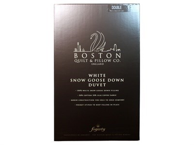 Fogarty 13.5 Tog White Snow Goose Down Duvet 3 Single Duvet