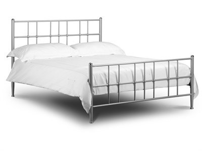 Julian Bowen Braemar 4 6 Double Silver Metal Bed