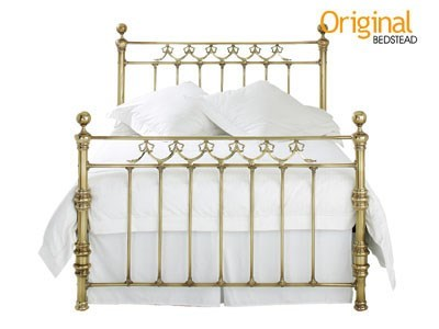Original Bedstead Co Braemore 4 6 Double Antique Brass Slatted Bedstead Metal Bed
