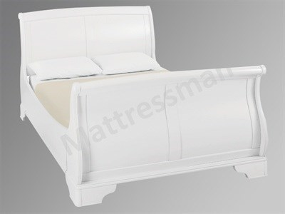 Bentley Designs Chantilly White 4 6 Double White Slatted Bedstead Wooden Bed
