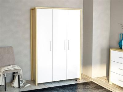 Birlea Cruz 3 Door Wardrobe  Oak and White 3 Door Wardrobe