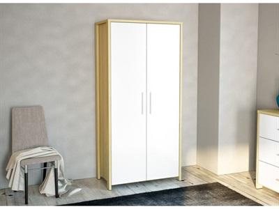Birlea Cruz 2 Door Wardrobe Oak and White 2 Door Wardrobe