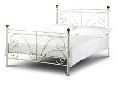 Julian Bowen Cadiz 3 Single Ivory Metal Bed