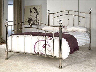 Limelight Callisto 4 6 Double Chrome Sprung Slatted Bedstead Metal Bed