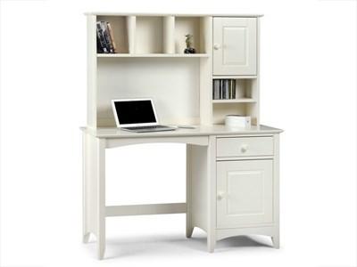 Julian Bowen Cameo Desk and Hutch Top Stone White Desk