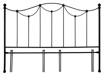 Original Bedstead Co Carie Headboard only 4 6 Double Glossy Ivory Headboard Only Metal Headboard