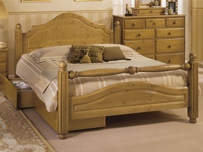 AirSprung Carolina 3 Single Slatted Bedstead Low Foot End Wooden Bed