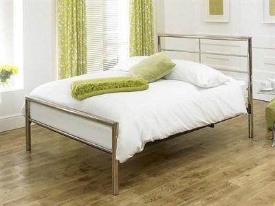 Limelight Celestial 4 6 Double Chrome Slatted Bedstead Metal Bed