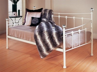 Limelight Cetus 3 Single Ivory Metal Bed
