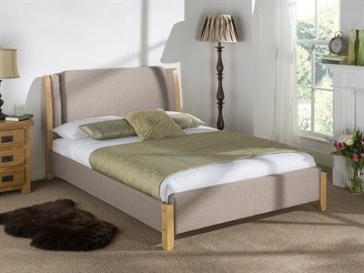 snuggle beds chelsea oat 5 king size fabric oat fabric bed - King Size Bed Frame Cheap