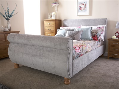 GFW Chicago Chenille 4 6 Double Chenille Silver Fabric Bed