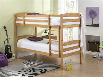 Snuggle Beds Cosmos in Maple 3 Single Bunk Bed Bunk Bed